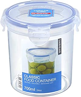 LocknLock HPL932D Food Container, Clear/Blue, 700 ml, Round, Plastic