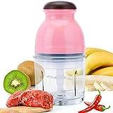 Sucute Hachoir à viande électrique 300 W, mini robot de cuisine, légumes, fruits, mixeur de 600 ml, prise européenne