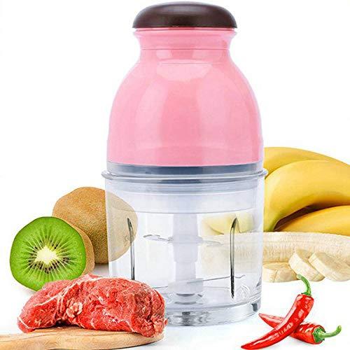 Sucute Picadora de carne eléctrica 300 W, mini multifunción, robot de cocina, verduras, frutas, licuadora, chopper, capacidad 600 ml, enchufe europeo