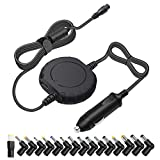Outtag 90W Universal Laptop Car Charger Power Adapter 15V to 20V for HP Dell Toshiba IBM Lenovo Acer ASUS Compaq Samsung Sony Fujitsu and more Notebooks (Upgraded Version)