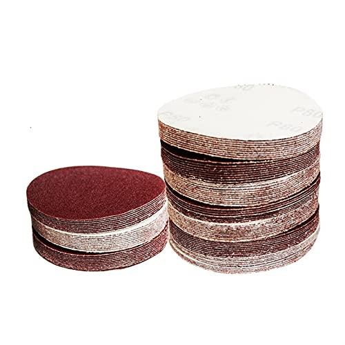 LQCHH Multifunción 20pcs / Set 125mm Redondo Disco de Lija Disco sábanas de Arena Grit 40# - 7000# Discos de Lijado Fácil de Cargar (Color : 80)