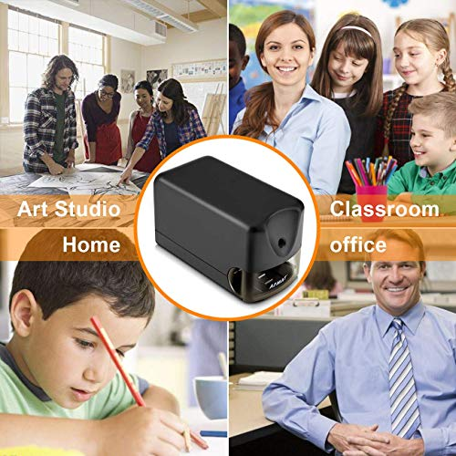 AFMAT Electric Pencil Sharpener Heavy Duty, Classroom Pencil Sharpener for 6.5-8mm No.2/Colored Pencils, UL Listed Industrial Pencil Sharpener w/Stronger Helical Blade, Best School Pencil Sharpener Photo #5