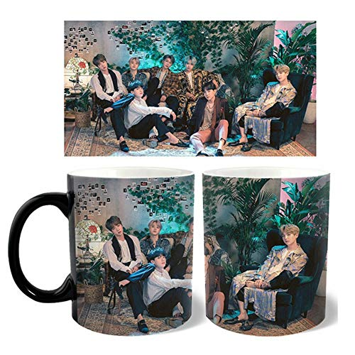 Skisneostype Magic Tasse, Kpop Bangtan Jungen Jungkook, Jimin, V, Suga, Jin, J-Hope, Rap Monster Thermoeffekt Farbwechsel Kaffeetasse fr Army(H08)