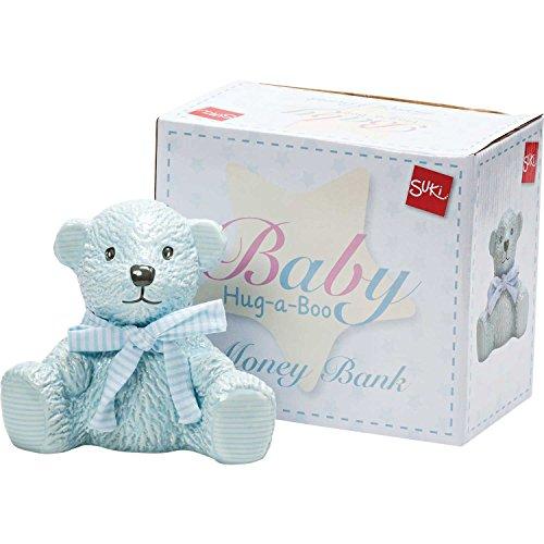 Suki Gifts International Ltd Hab Teddy Tirelire Bleu, Bleu Clair