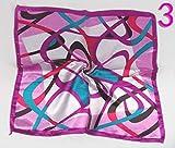 CHZDSB Sciarpa Quadrata Sciarpa Piccola Moda Fascia per Capelli Morbida Cinturino Decorativo Multifunzionale Foulard A Righe MulticoloreScollo Quadrato Sciarpa QuadrataNera
