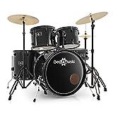 BDK-1plus Anfanger-Schlagzeug in Standardgrose von Gear4music schwarz
