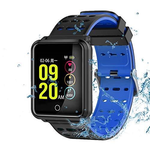 TagoBee TB06 IP68 Impermeabile Intelligente Orologio HD Touch Screen Fitness Tracker Supporto Pressione sanguigna frequenza cardiaca monitoraggio del Sonno pedana Compatibile con Android e iOS(Blue)