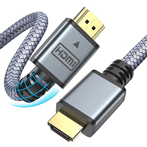 AINOPE 4K HDMI Kabel, 1.88M High Speed 18Gbps 60Hz HDMI auf HDMI 2.0 Kabel, 30AWG 3D 2160p 1080p Ethernet Nylon geflochtenes HDMI Kabel, Kompatible Audio Return(ARC) Box PS4 PS3 4K