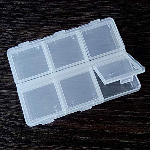 Lot de 10 pièces rectangulaires en métal pour nail art, strass 10 x 12 mm, décoration pour nail art, 6 grilles de boîte, métal RC 10 x 12 mm.