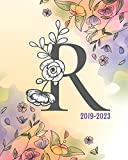 2019-2023: Monogram Initial R Floral Cover, Monthly Schedule Organizer, 60 Months Calendar Planner Agenda with Holidays