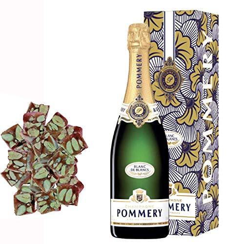 Champagne Pommery - prerrogativa Blanc de Blancs y cajas debajo de 150g nougadets negras flexibles - Jonquier Dos Hermanos
