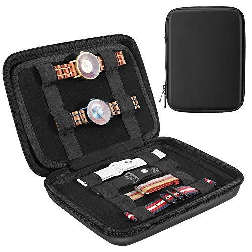 Emibele Organisateur de Bracelet de Montre, Trousse de Bracelet Portable Multifonctionnelle, Sac de Rangement pour Bracelet à Montre,...