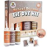 Coral, Orange, Purple Tie Dye Colors in Desert Dreams Tie Dye Kit (Tye Dye Kit). Custom Clothing Dye with 6 Refills for Multiple Projects, Soda Ash, Ties, Free Tie Dye Techniques Guide
