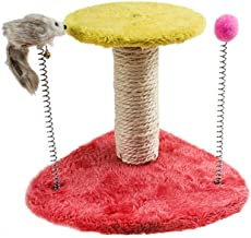 Zagot Pet Cat Tree with Small Cat Scratching Posts Kitty Coconut Tree-Cat Scratch Post Cat Climbing Frame Cat Ladder Cat Toy with Toy Mouse for Cats and Kittens gaudily