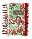 Agenda 2021 giornaliera Frida Kahlo, pratica, funzionale e compatta, 16x11,4 cm, licenza ufficiale 100%
