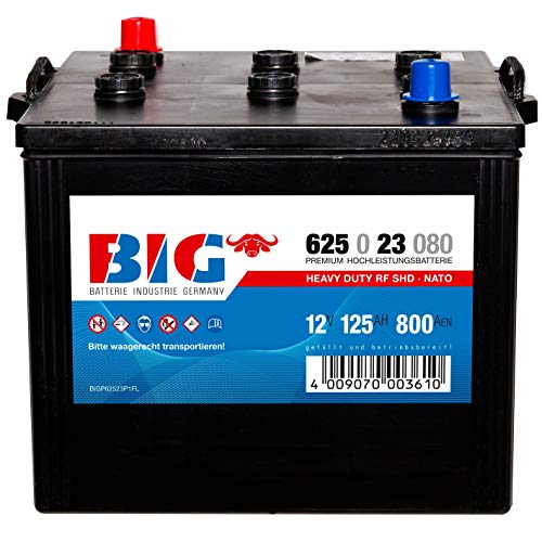 BIG LKW Batterie 12V 125Ah Nato Block Starterbatterie Unimog 110Ah 130Ah
