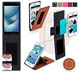 Hülle für Asus Zenfone 4 Pro Tasche Cover Hülle Bumper | Braun Leder | Testsieger