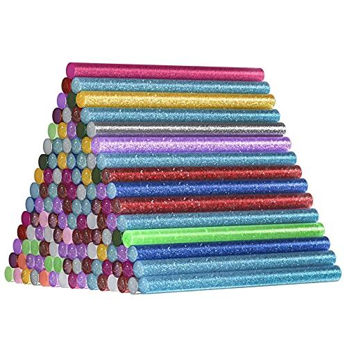 120 Piezas Pegamento Caliente Colores, Comius Sharp 15 Colors 7 * 100mm Barras de Silicona Caliente, Hot Glue Sticks para DIY Arte y Sellado Reparaciones