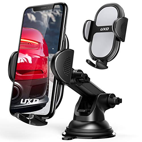 mpow iphone 6 plus car mounts Car Phone Holders, UXD Car Phone Mount, Patented Phone Holders for Car Dashboard/Windshield, Compatible with iPhone 12 Pro Max/Mini 11 Pro Max Xs XR X, Galaxy S20+ S20 Note 10 9, Light Gray