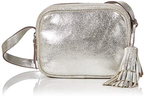 Clarks Sac à bandoulière Topsham Mila pour femme, 1 x 1 x 1 cm - Noir - Schwarz (Silver), 1x1x1 cm (B x H x T)