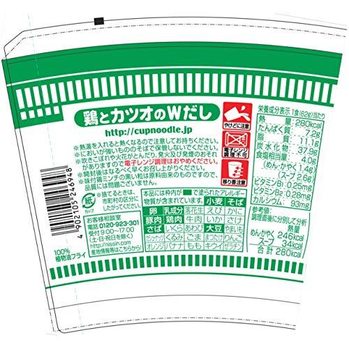 日清食品おだしがおいしいカップヌードル鶏南蛮そば62g×20個
