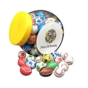 cookie jar of individually wrapped chocolate sports balls Cookie Jar of Individually Wrapped Chocolate Sports Balls 514KxyTBG8L