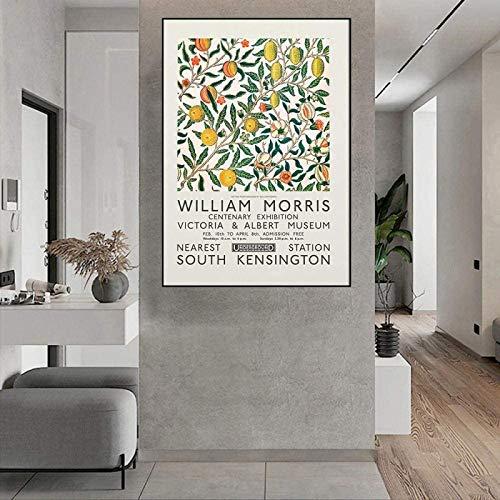 Wand Bilder William Morris GemäLde Vintage Zitrusfrucht Poster Galerie Ausstellung Leinwand Gemäldedrucke Pflanze Wandbild Wohnkultur Rahmenlos 40×50cm