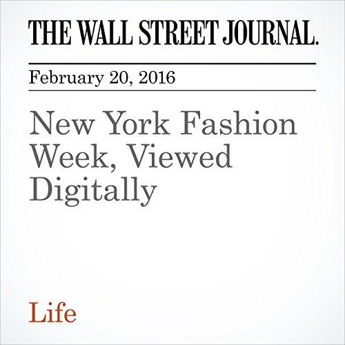 New York Fashion Week, Viewed Digitally audiobook cover art