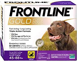 Frontline Gold for Dogs 4588 lbs Purple (3 Month)