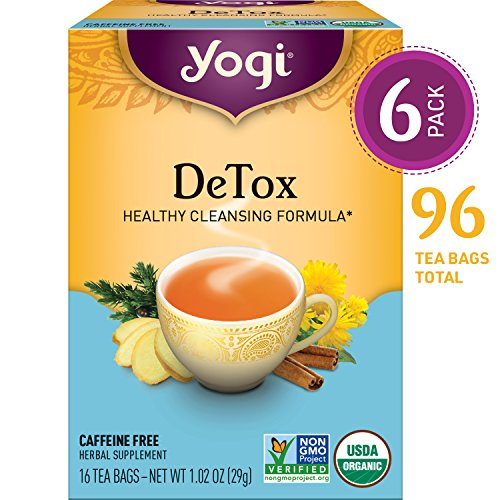 Yogi Tea - DeTox Tea - Healthy Cleansing Formula With Traditional Ayurvedic Herbs - 6 Pack, 96...