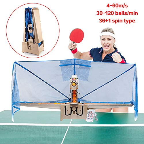 New TFCFL Table Tennis Robot Auto Ping Pong Ball Train Practice Machine 30W 110V (top Version)