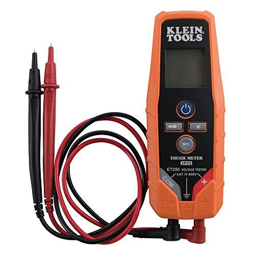Klein Tools ET250 Voltage Meter, AC Voltage and DC Voltage Tester, Digital Multimeter Includes 3 x AAA Batteries
