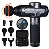 FDA Registered Massager, Massage Gun for Pain Relief of Deep Tissue Muscle, Portable, Professional, Athlete's Choice - ShioSel (Carbon)