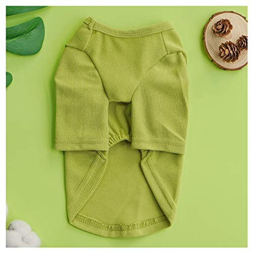 Loyanyy Dog Shirts for Small Dog Pure Cotton Sweatshirt for Puppy Kitten Cute Dog Clothes for Spring Summer Stretchy Cat Dog T-shirts Green 16