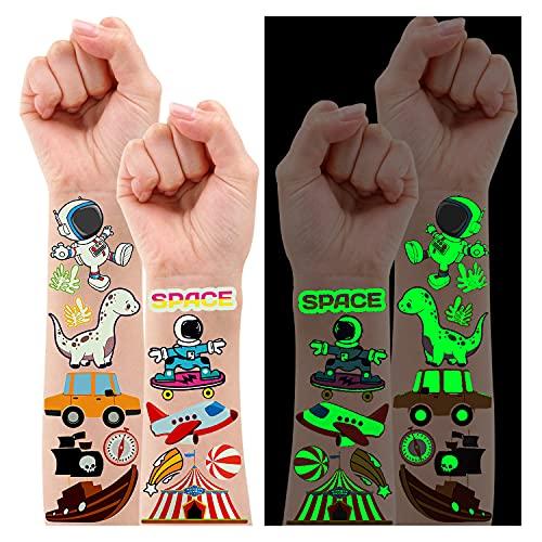 Leesgel Gemischten Stil Kinder Tattoo 145 Styles,Temporäres Tattoo Set Kinder Gemischten Stil, Hai/Dinosaurier/Tier/Pirat usw Fake Tattoos