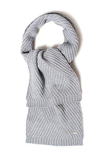 WOOLRICH Damen Schal aus Rippstrick - Grau UNI