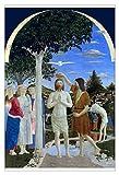 Impresiones en Lienzo ImágenesSin marco figurativo gigante Imagich Top 100 bautismo de Cristo por Piero Della Francesca 16 x 32 pulgadasCuadro sobre Lienzo, Impresiones en lienzo