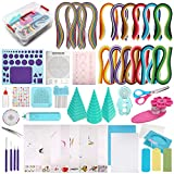 MDLUU Paper Quilling Kit with 1860 Strips and Quilling Tools and Storage Box, Paper Quilling Craft Great for...