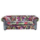 Beliani Sofá 3 plazas tapizado Multicolor Violeta...