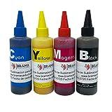 Tinta de sublimación para impresoras Epson - 4 botes de 100ml