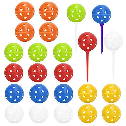 CHALA 28PCS Bolas de Práctica de Golf, Pelotas Perforadas para Entrenamiento con Agujero para Práctica de Columpio/Rango de Conducción/Hogar/Mascotas/Bolas de Piscina Juguetes para Diversión(41MM)