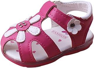 WINJIN Sandales Bébé Filles Chaussures D'été pour Enfants Plate Sneakers Baskets Mode Casual Sports Plage Mules Premiers P...