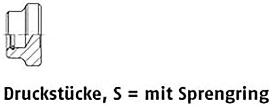 Drukstukken DIN 6311 staal S 32 M 16 met borgring VE=S 10 stuks