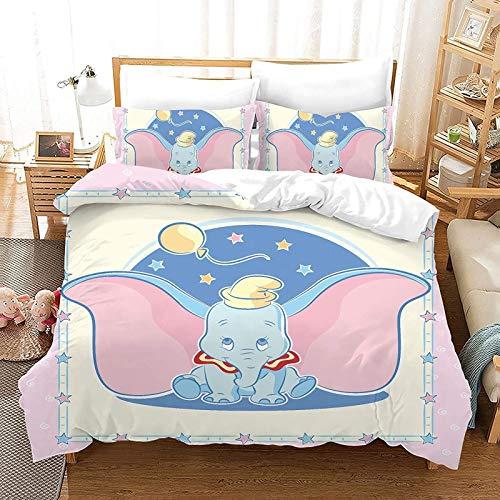Juego de ropa de cama de 2 fundas de almohada, 100% microfibra, juego de 3 piezas (A01, doble 200 x 200 cm + 80 x 80 cm)