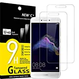 NEW'C Lot de 2, Verre Trempé Compatible avec Huawei P8 Lite 2017, Film Protection écran sans Bulles d'air Ultra Résistant (0,33mm HD Ultra Transparent) Dureté 9H Glass