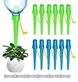 【New】Plant Self Watering Spikes 12PCS ,Universal Self Watering Device With 12 Fixed Brackets and 12 Graduated Tables, Automatic Waterer Vacation Drip Irrigation Control System   Watering-Non-stop