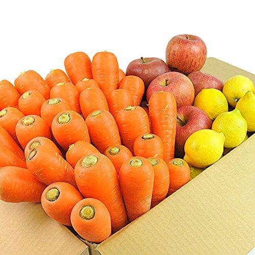 にんじん 野菜セット( にんじん8kg+りんご3kg+レモン1kg )にんじん : 農薬・化学肥料不使用栽培 訳あり