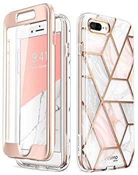 i-Blason Cosmo Glitter Clear Bumper Case for iPhone 8 Plus/iPhone 7 Plus Marble