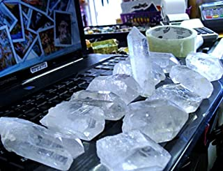 12 TO 15 QUARTZ CRYSTAL FROM CRYSTAL MINE...WHOLESALE PRICE..OVER 3 POUND
