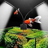 Pssopp Luz LED para acuario de 15 W con clip.